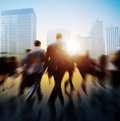 Business People Walking Commuter Travel Motion City Concept Royalty Free Stock Photo