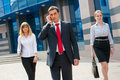 Business people walking i Royalty Free Stock Photo