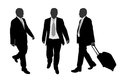 Business people walking illustration of Stock Images