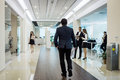 Business people walking in the office corridor,Business People C Royalty Free Stock Photo