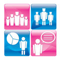 Business people at work icons set Royalty Free Stock Photos