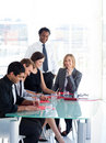 Business people working in a meeting Royalty Free Stock Images