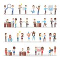 Business people working in team and party together Royalty Free Stock Photo