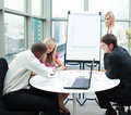 Business people working together in a meeting Royalty Free Stock Photo