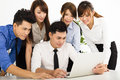 Business people working together at  meeting Royalty Free Stock Photo