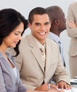Business people working together in office Royalty Free Stock Images