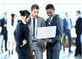 Business people working together successful Stock Photos