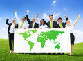 Business People with World Success Royalty Free Stock Photo