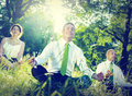Business people yoga relaxation wellbeing concept Royalty Free Stock Images
