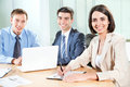 Business people young working in the office Royalty Free Stock Photo