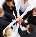 Business peoples hands showing unity Stock Photography