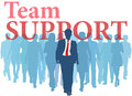 Business person backed up support team people Stock Photo