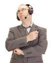 Business person with head set Royalty Free Stock Image