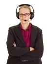 Business person with head set Stock Images