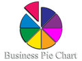 Business pie chart an image of a Stock Photo