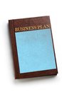 Business plan book Royalty Free Stock Photography