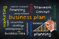 Business plan on chalk board Royalty Free Stock Photo