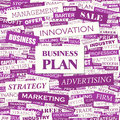 Business plan concept illustration graphic tag collection wordcloud collage Stock Photography