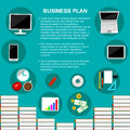 Business plan concept template vector.