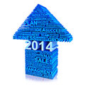 Business plan for improvement in 2014 Stock Photo
