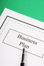 Business plan a or proposal with a fountain pen ready for signature Stock Images