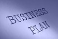 Business plan typed text heading Royalty Free Stock Images