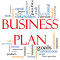 Business Plan Word Cloud Concept Royalty Free Stock Images