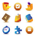 Business planning icons Stock Photos
