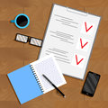Business planning and organization paperwork Royalty Free Stock Photo