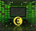 Business positive graph forecast or results of Euro currency Royalty Free Stock Photo
