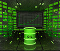 Business positive graph forecast or results in fuel industry Royalty Free Stock Photo