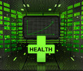 Business positive graph forecast or results in medical sector Royalty Free Stock Photo