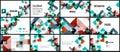Business presentation geometric template