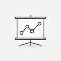 Business presentation line icon