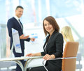 Business presentation.  meeting of  people Royalty Free Stock Photo