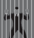 Business Prisoner outline Royalty Free Stock Photo