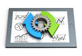 Business process chart Royalty Free Stock Photo