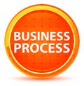 Business Process Natural Orange Round Button Royalty Free Stock Photo