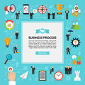 Business process vector background in flat style Royalty Free Stock Photo