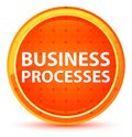 Business Processes Natural Orange Round Button Royalty Free Stock Photo