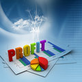 Business profit  graph Royalty Free Stock Image