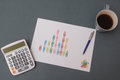 Business progress incomes graph Royalty Free Stock Photo