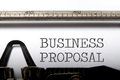 Business proposal Royalty Free Stock Photo