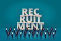 Business recruitment concept. HR manager hiring new employee or workers for job. Recruiting staff or personnel in their corporate