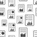 Business report seamless pattern. Business concept document pict