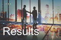 Business Results Progress Analysis Corporation Graphic Concept
