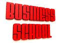 Business school red text and white background Stock Photo