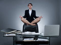 Business secretary woman levitation Royalty Free Stock Image