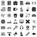 Business seminar icons set, simple style