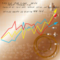 Business Share Market Graph Stock Photo